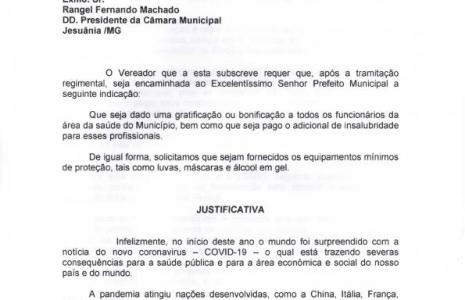 INDICAÇÃO Nº 05-2020