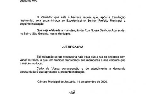 INDICAÇÃO Nº 09-2020