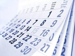 Datas das Reuniões Ordinárias na Câmara de Jesuânia